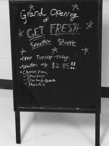 THIRSTY? Get Fresh smoothie menu offers morning refreshment.