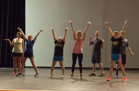 DANCE rehearsals for the musical are already underway. Senior Erica Lohman is assisting director Ms. Davis in choreographing and teaching the dance routines.