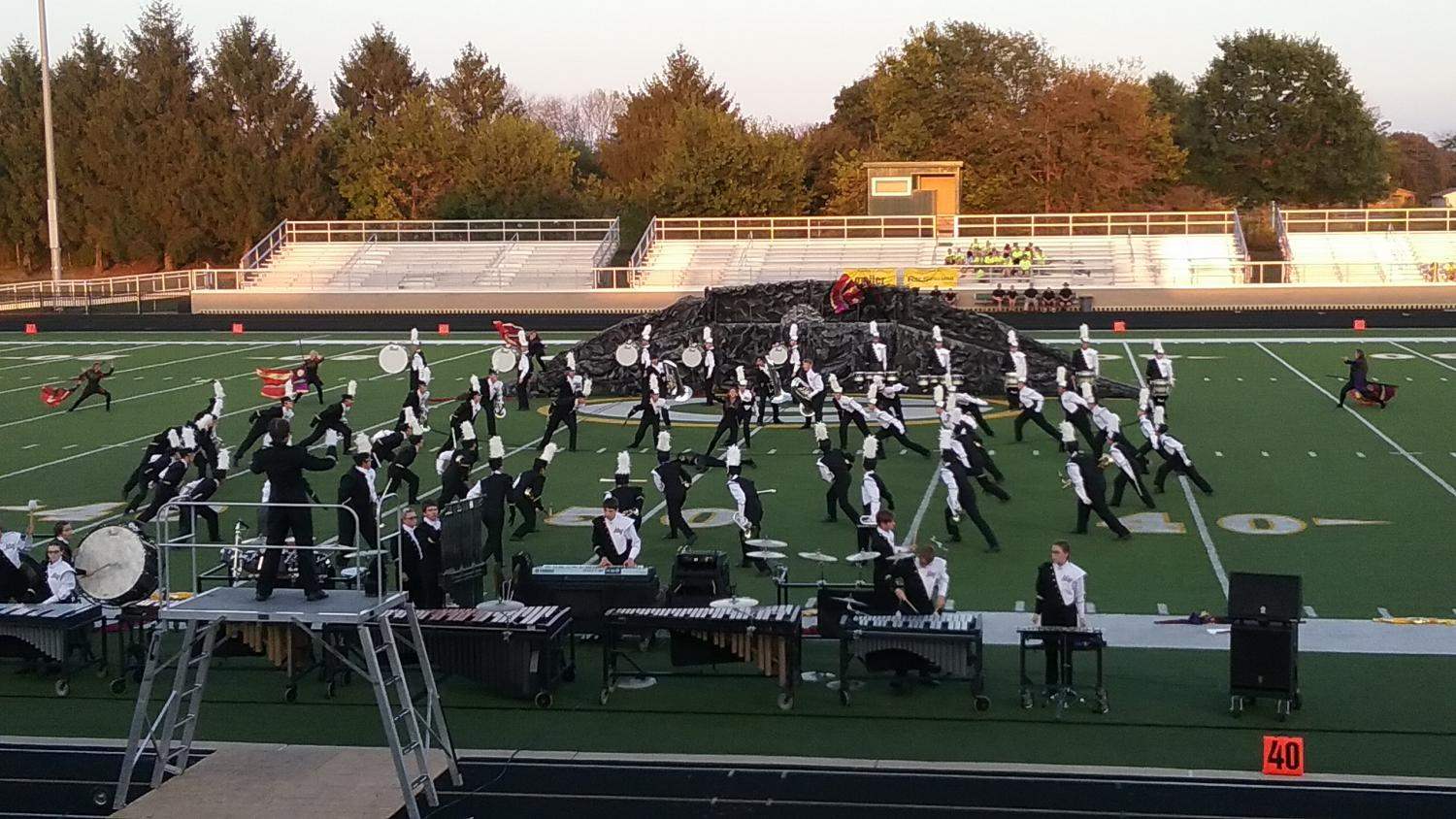 The band placed second at their competition at Greenwood on September 23.