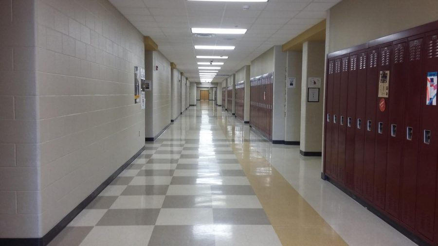 Empty hallway at MVHS