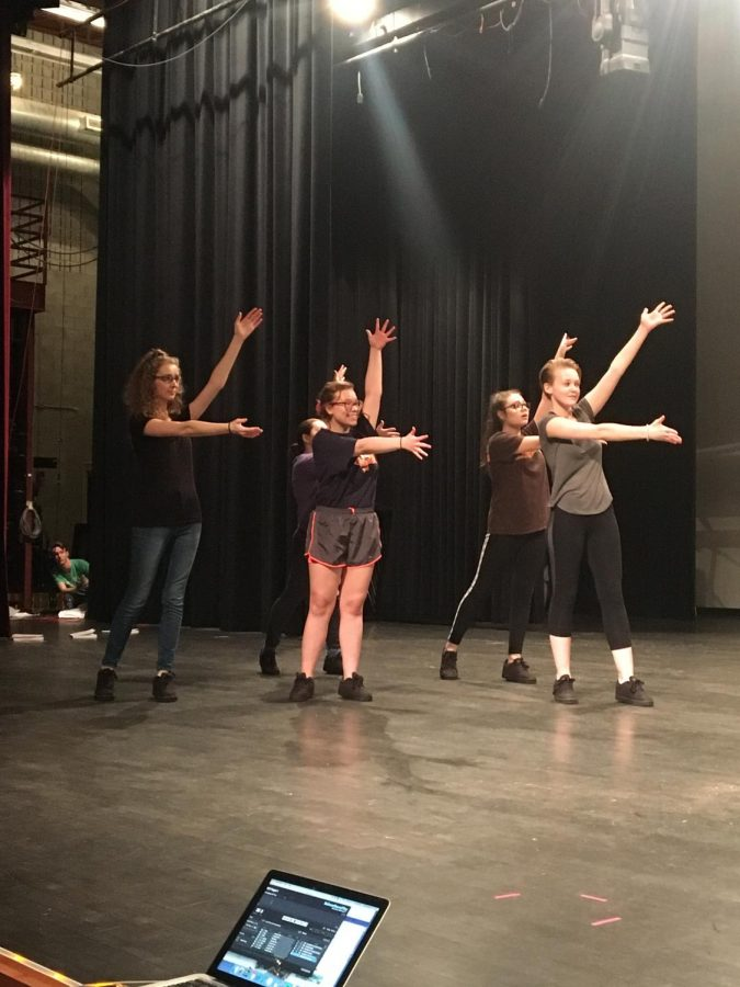 Student+performers+practice+choreography.