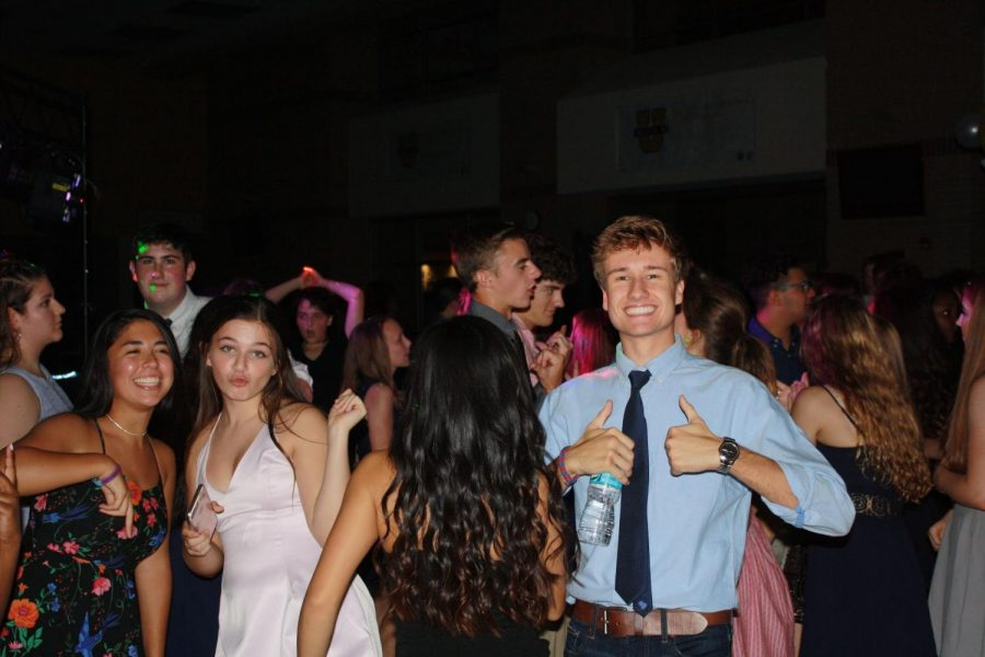 Students at the first homecoming dance