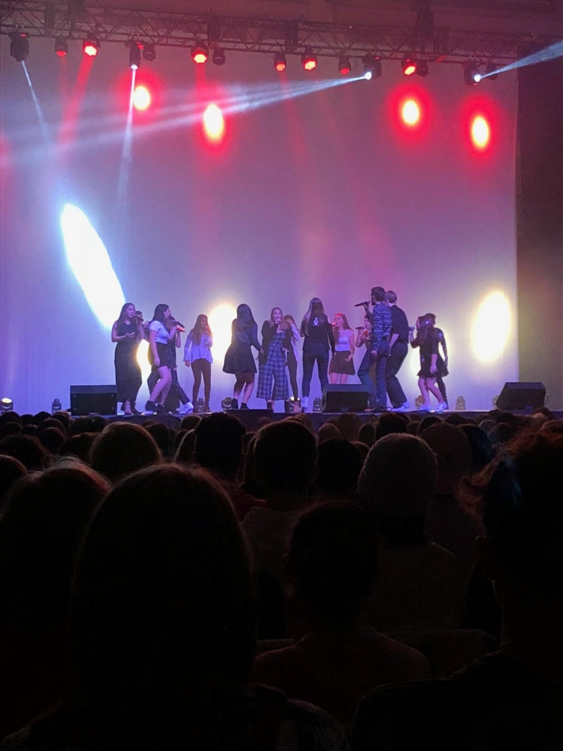 A cappella group performance