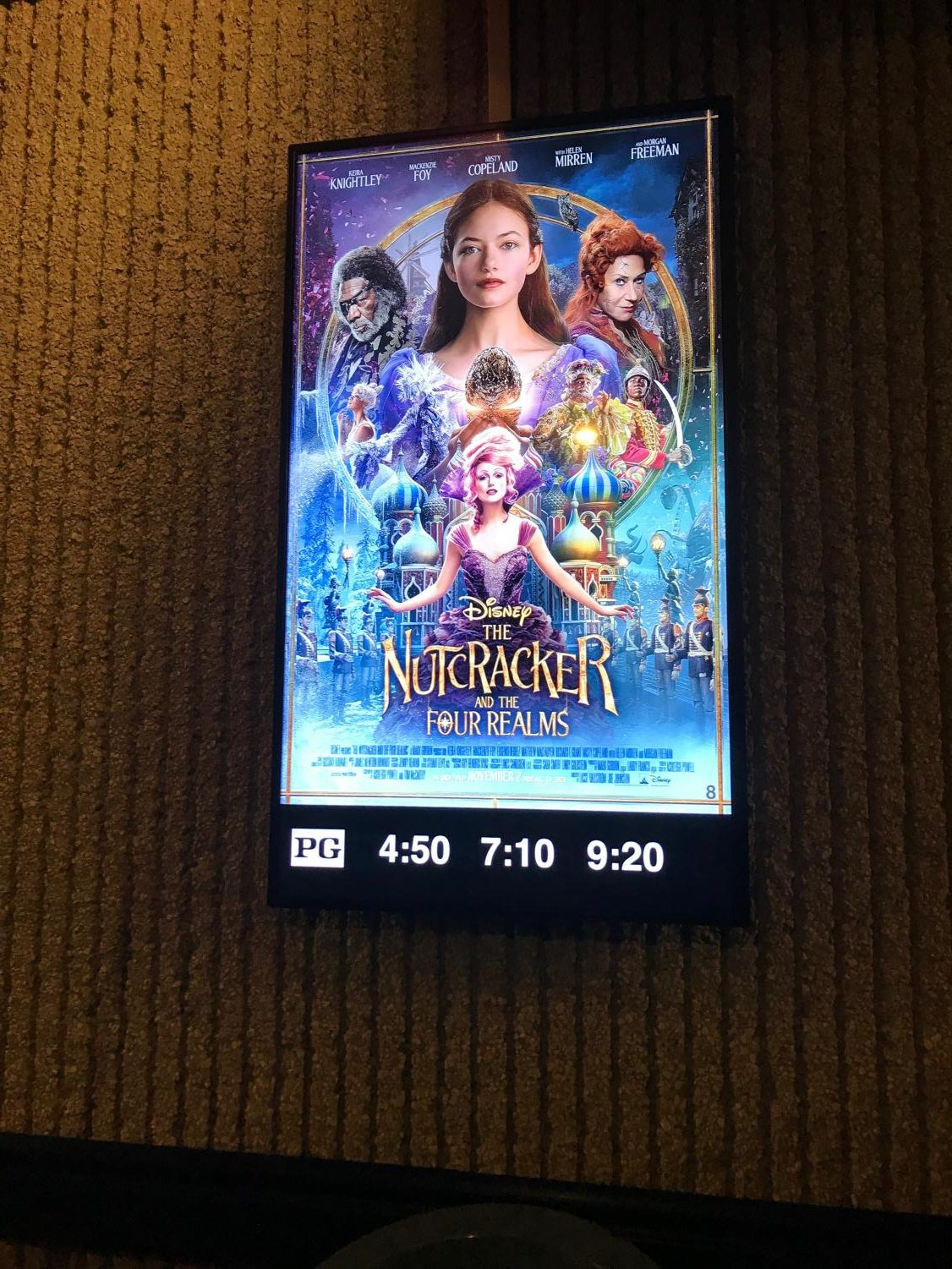 The Nutcracker is shown many times throughout the day at Legacy 9.