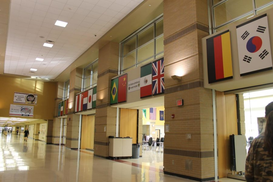 Flags+above+the+Cafeteria