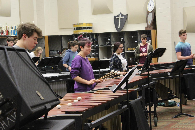 Indoor Percussion begins