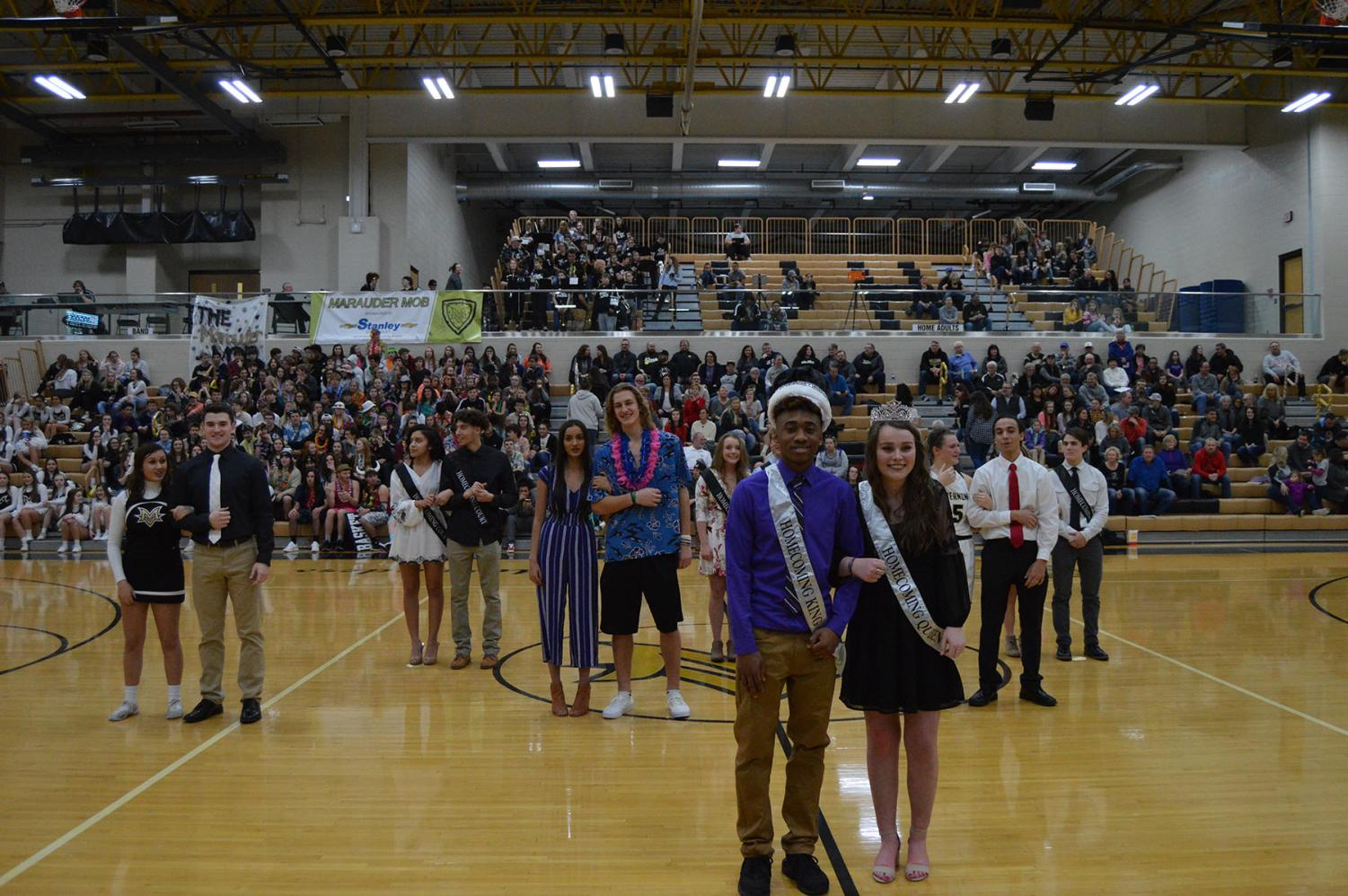 The King and the Queen of basketball homecoming, Darell Jackson and Maeve Laughlin.