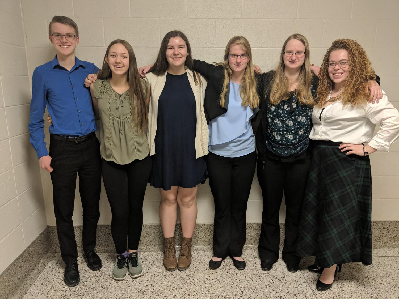 English Academic Team members from left to right: Logan Hufty,  Kailee Monroe, Cadence Roy, Sydney Godwin, Alyson Godwin and