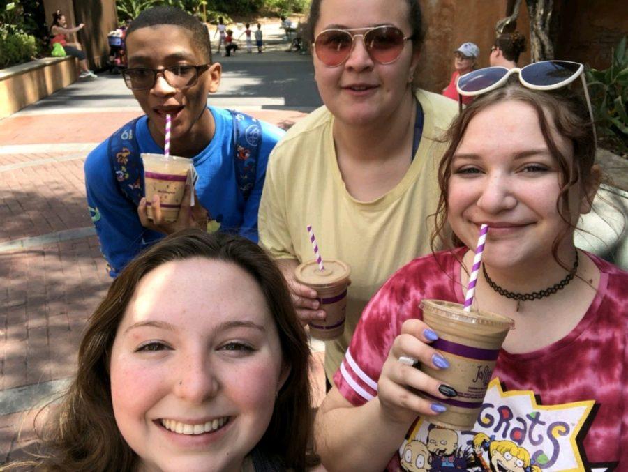 Donn Bigelow, Cayla Davis, Emme Longman, and Claire McClimon at Disney
