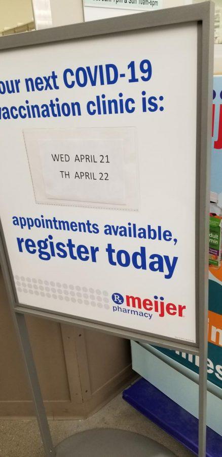 Register for vaccine at Meijer