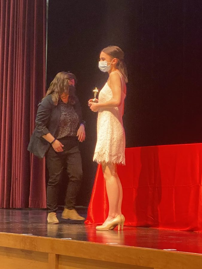 Madalyn Cottrell (12) is awarded Thespian of the Year.