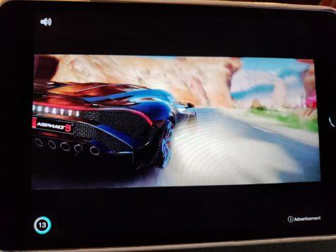 gaming ad screen