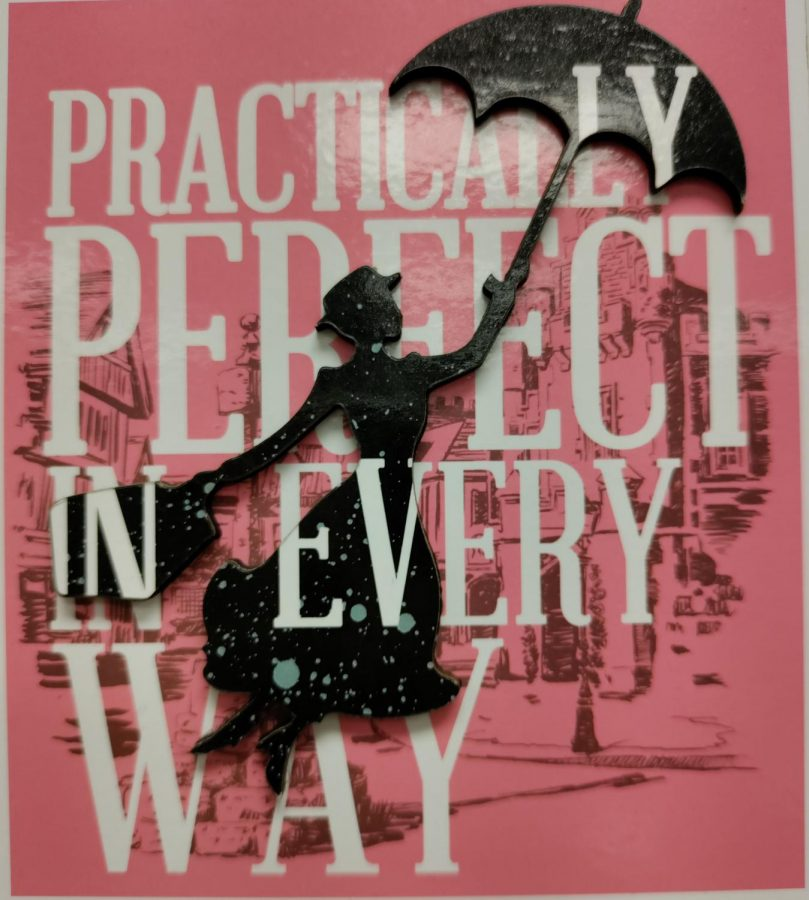 Magnet of Mary Poppins which reads Practically Perfect in Every Way