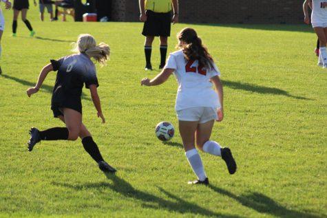 Sabrina Geryak steals the ball.